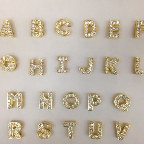 52 Pc A-Z (2 Each) Alphabet Gold Letter Slider Charm 8mm (USA Seller) in Pet Supplies, Wholesale Lots | eBay