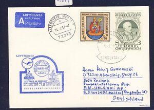 52671-LH-LF-Duesseldorf-Helsinki-6-4-97-Karte-ab-Osterreich-Enklave