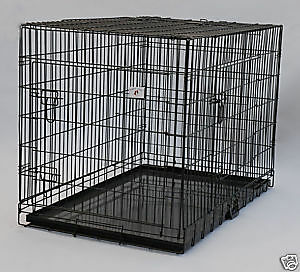55 48 42 36 30 24 20 Folding Pet Dog Cat Cage 3 Color Choice