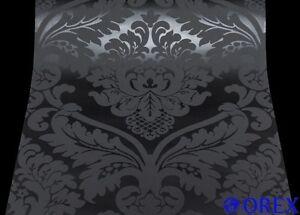 5526-31-1-Rolle-Vinyl-Tapete-BLACK-BAROCK-ORNAMENTschwarz-ANGEBOT-0-89-m