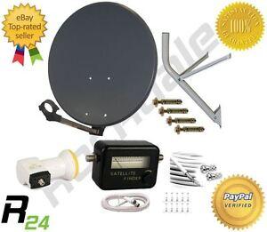 ... Dish Kit + Wall mount + LNB + Sat Finder + Coax - Astra - Hotbird