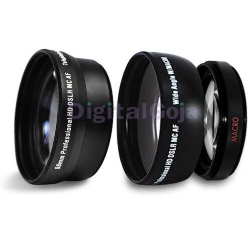 58 MM 2X Telephoto , 0.43X Fisheye Lens for Canon Rebel XS XSi T3i T2i T1i T3 T2 in Cameras & Photo, Lenses & Filters, Lenses | eBay