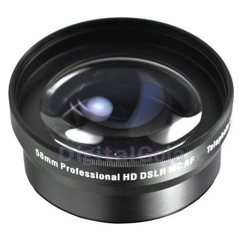 58MM 2x Telephoto Zoom Lens for Canon Rebel T4i T3i T3 T2i T2 T1i XT XTi XS XSi in Cameras & Photo, Lenses & Filters, Lenses | eBay