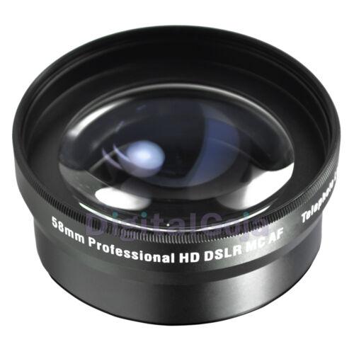 58MM 2x Telephoto Zoom Lens for Canon Rebel T4i T3i T3 T2i T2 T1i XT XTi XS XSi in Cameras & Photo, Lenses & Filters, Lenses | eBay