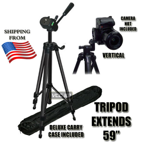 "59"" TRIPOD FOR CANON REBEL XSI XS T1i T2i T3i D600 XT 60D 7D in Cameras & Photo, Tripods & Supports, Tripods & Monopods 