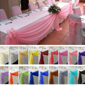 5M135M Top Table Swags Sheer Organza Fabric DIY Wedding Party Bow