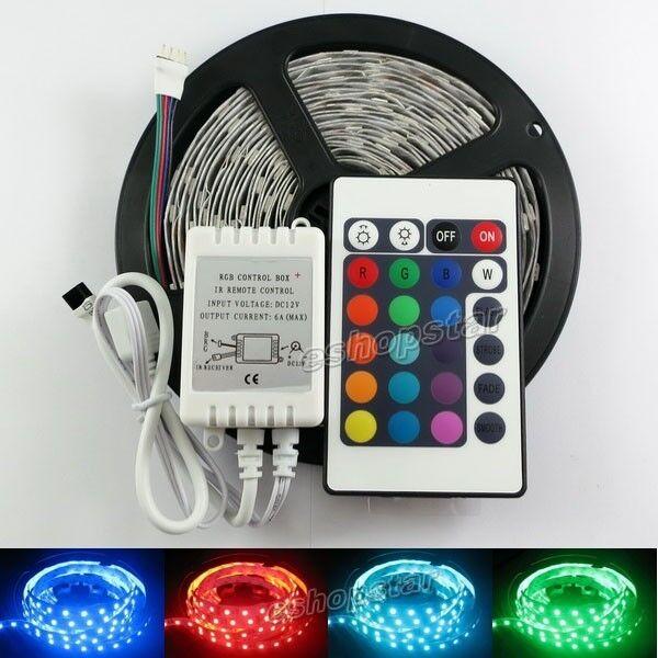 5M 5050 SMD DJ Strip lights 150 LED RGB+24 IR Remote