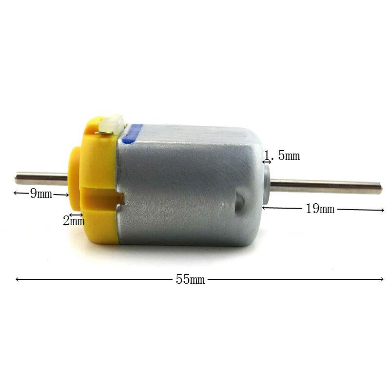 2pcs 130 Double Output Shaft DC Motor 1.5V-12V 5400rpm DIY Model Making B$CA