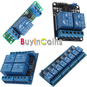 5V 1/2/4/8 Channel Electronic Relay Module For Arduino ARM PIC AVR DSP TTL