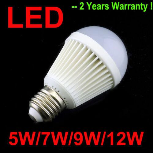 5W/7W/9W/12W E27 LED Bulb White/Warm Light LED Lamp Bulb Bright Energy Saving in Home & Garden, Lamps, Lighting & Ceiling Fans, Light Bulbs | eBay