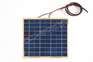 5W-Solar-Cell-panel-5-Watt-12-Volt-Garden-Fountain-pond-Battery-Charger-Diode