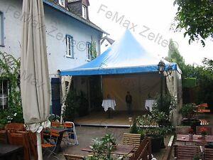 5mx5m-4xEingaenge-inkl-Dach-in-blau-Gastrozelt-Raucherlounge-Festzelt-Partyzelt
