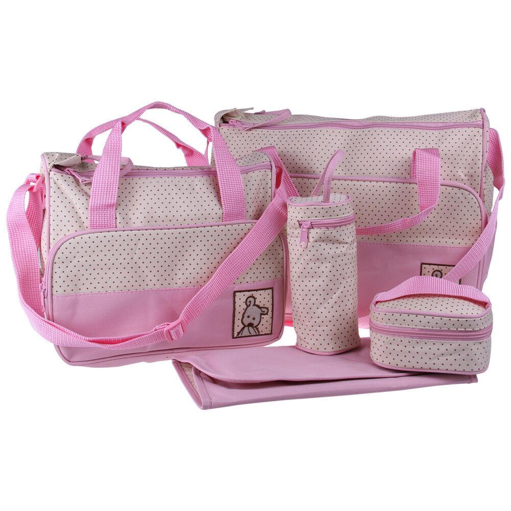 5pcs multi function baby pad diaper nappy tote handbag big shoulder bag nc632 ebay. Black Bedroom Furniture Sets. Home Design Ideas