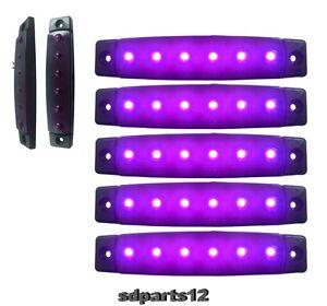 5x 24v led violett beleuchtung von vorlage lkw wohnwagen shassis anh nger camper ebay. Black Bedroom Furniture Sets. Home Design Ideas