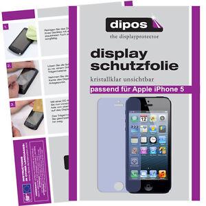 5x-Apple-IPhone-5-Schutzfolie-klar-VORNE-HINTEN-Displayschutz-Folie-unsichtbar