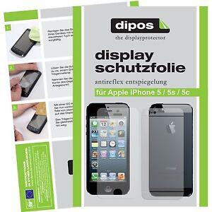 5x-Apple-IPhone-5-Schutzfolie-matt-VORNE-HINTEN-Displayschutz-Folie-Antireflex