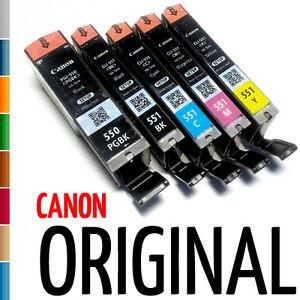 5x canon original tintenpatronen druckerpatronen f r canon. Black Bedroom Furniture Sets. Home Design Ideas
