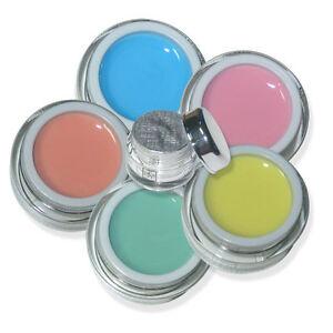 5x pastell farb gel colorgel uv gel nagel gel set french n gel ebay. Black Bedroom Furniture Sets. Home Design Ideas