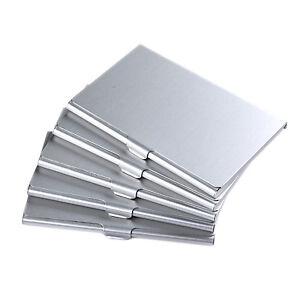 5x visitenkarten etui business card box - Metall visitenkarten ...