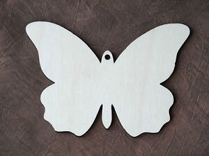 5x Wooden Birch Ply Butterfly Shape Blank Rustic Hanging