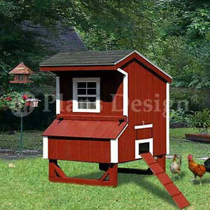 5 39 x4 39 saltbox style small chicken poultry coop plans for Small chicken coop with run