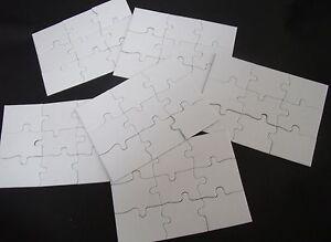 6 blanko puzzle 9 teilig din a 6 kindergeburtstag basteln einladungs karten ebay. Black Bedroom Furniture Sets. Home Design Ideas