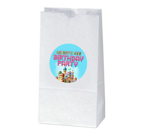 CANDYLAND Birthday Party Favors TREAT BAG STICKERS
