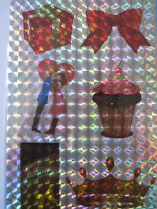 6 Glitzer-Motiv-Aufkleber, selbstklebend : Schokolade/Muffin/Krone/Liebespaar .. - <span itemprop='availableAtOrFrom'>Sondheim, Deutschland</span> - 6 Glitzer-Motiv-Aufkleber, selbstklebend : Schokolade/Muffin/Krone/Liebespaar .. - Sondheim, Deutschland