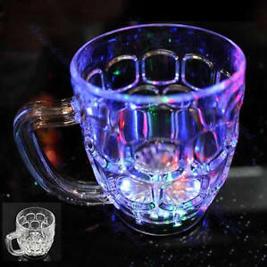 6 LED Colorful Flashing Parties Bar Decor Plastic Handheld Drinking Cup Beer Mug