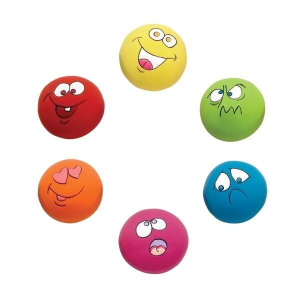Small Toy Balls : Lot latex rubber dog puppy toy small squeaky funny face