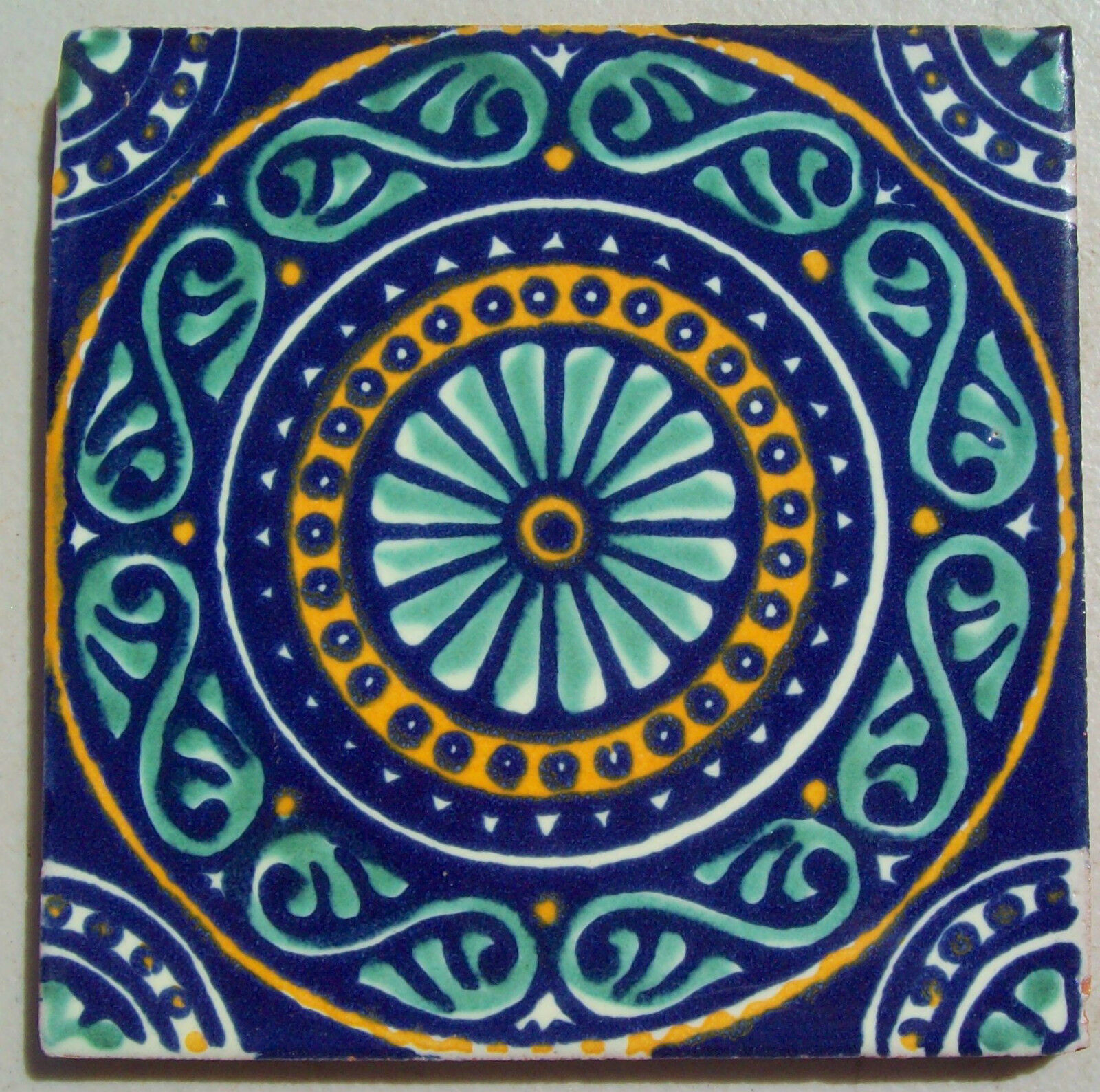 Mexican Wall Tiles : Mexican talavera tile hand painted ceramic tiles