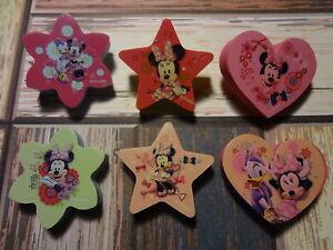 6-Mickey-Mouse-Radiergummi-Sterne-Herzchen-Disney-Sammler-Mickie-Maus-Micky
