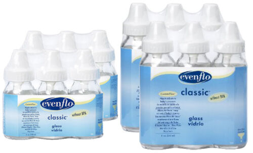 6 Pack of 4 oz or 8 oz Classic Real Glass Baby Bottles by Evenflo in Baby, Feeding, Baby Bottles | eBay