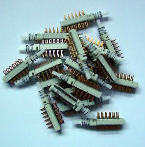 6-Schalter-4xum-ITT-Schadow-Druckschalter-Switch-Taste-4x-um-4-x-um-Cannon-NEU