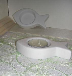 6 teelichthalter fisch dekoration tischdeko kommunion for Tischdeko fisch