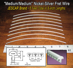 6-feet-of-Medium-Medium-Premium-Jescar-Nickel-Silver-Fret-Wire-Frets-10-08-01