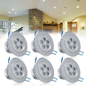 6-x-5W-LED-Decken-Leuchte-Lampe-Spot-Einbauleuchte-Einbau-Strahler-Set-Warmweiss