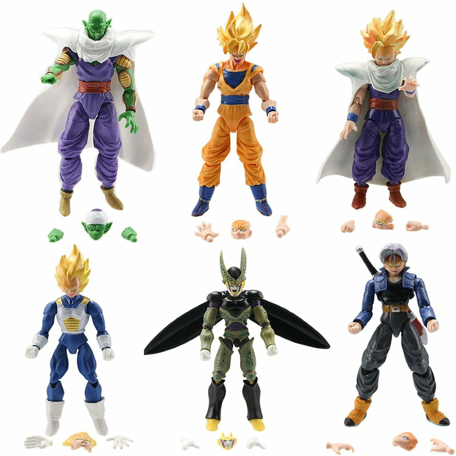 6x Dragon Ball Z 5 Quot Figures Piccolo Cell Trunks Super