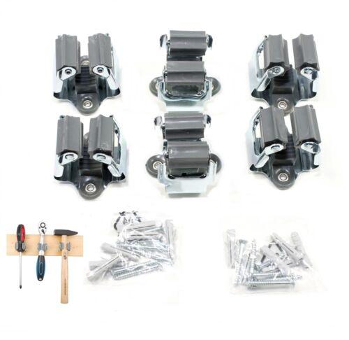 klemmfix set ger tehalter werkzeughalter gartenger te stielhalter besenhalter ebay. Black Bedroom Furniture Sets. Home Design Ideas