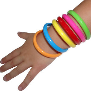 6-x-Toddler-Kids-Girls-Bangle-Cuff-Bracelet-Wristband-Fashion-Costume-Jewellery