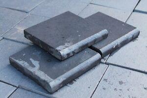 Diy slate roof: Bullnose quarry tiles