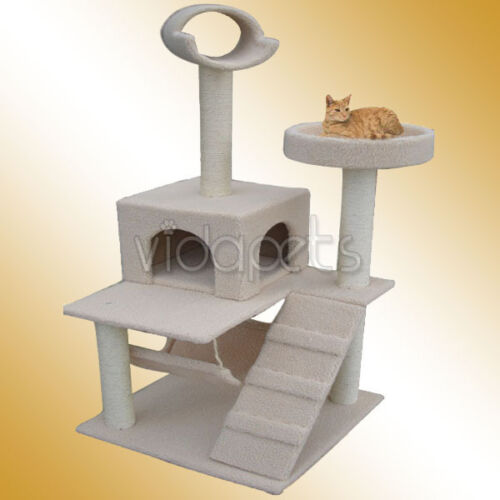 "60"" Beige Cat Tree House 862 Condo Scratcher Furniture in Pet Supplies, Cat Supplies, Furniture & Scratchers 