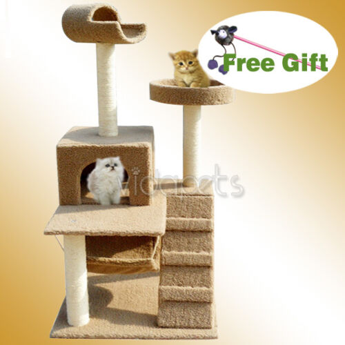 "60"" Brown Cat Tree House 86 Condo Scratcher Furniture in Pet Supplies, Cat Supplies, Furniture & Scratchers 
