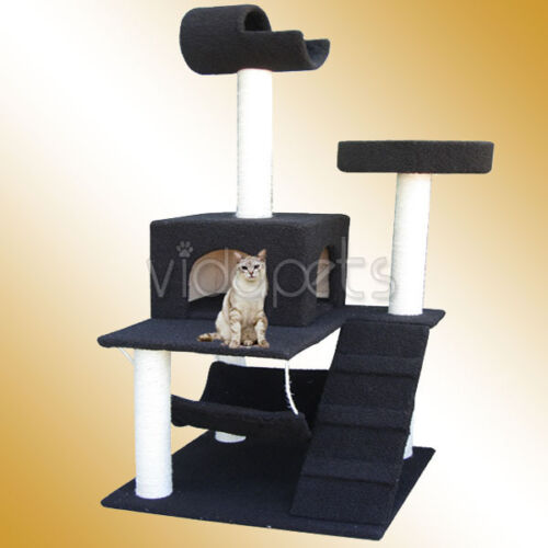 "60"" Dark Chocolate Brown Cat Tree House Condo Scratcher Furniture in Pet Supplies, Cat Supplies, Furniture & Scratchers 
