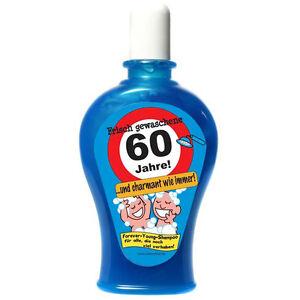 60 geburtstag shampoo 350ml scherzartikel witzige geschenke geburtstag ebay. Black Bedroom Furniture Sets. Home Design Ideas