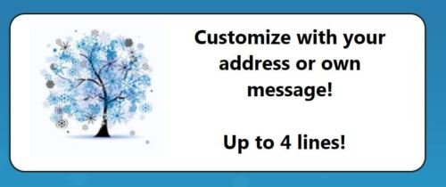 60 Personalized Winter Tree Snowflakes Return Address Labels in Specialty Services, Printing & Personalization, Address Labels-Graphical | eBay