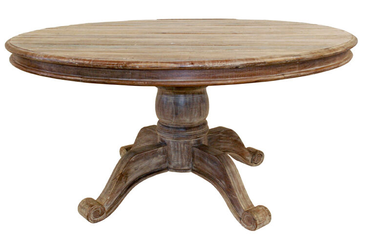 60 round wood dining table 60 quot dining table reclaimed teak and wood planks 7374
