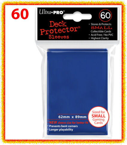 60 Ultra Pro DECK PROTECTOR Card Sleeves BLUE Yu Gi Oh