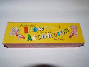 60'S VINTAGE GREEK TOY BLOW ACCORDION MIB BY AMICO in Musical Instruments & Gear, Accordion & Concertina | eBay