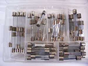 60pc 12 volt Glass Fuse Assortment ,Auto,Car,Truc k,Classic.